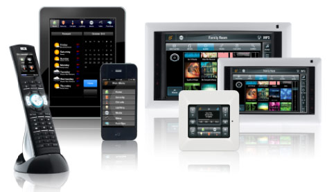 Innovative Home Media touch screen home control interface