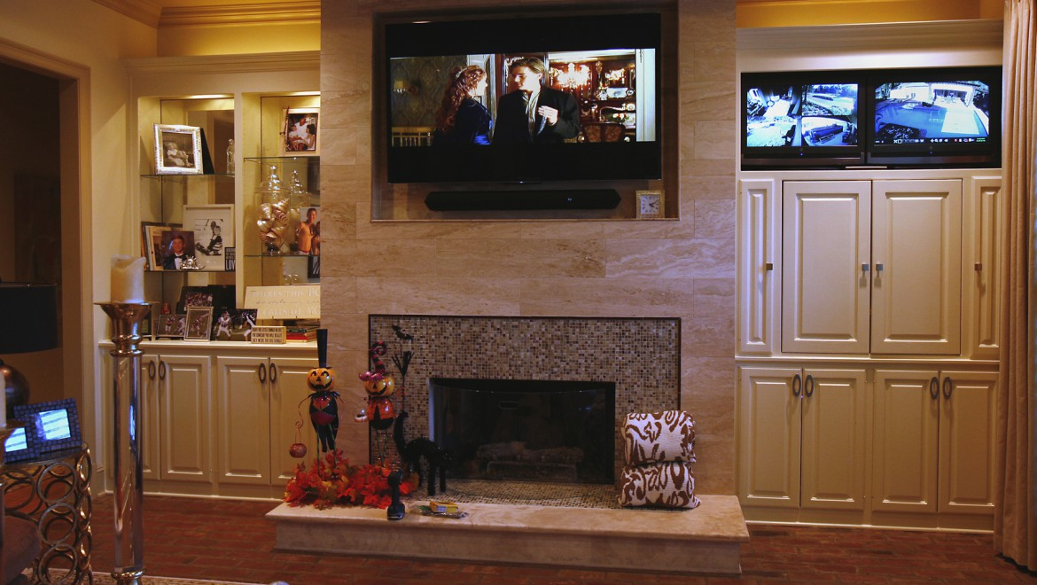 Living Room TV Theater and Surveillance Monitoring