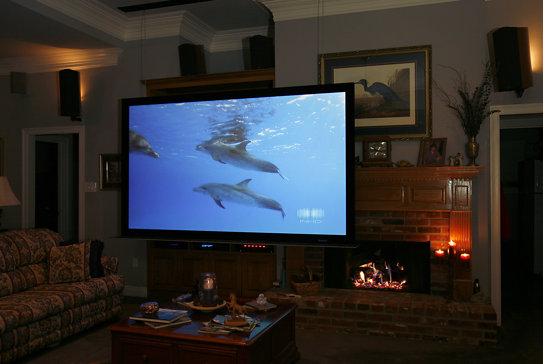Living Room Movie Screen Innovative Home Media